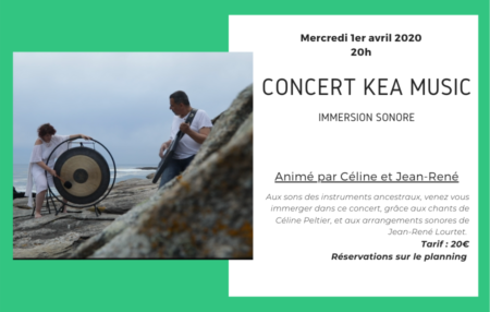Mercredi 1er avril à 20h participation 20€